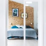 Franciaágy mögött, egyedi hangulat a hálószobában - OSB lap, Árvai Fatelep