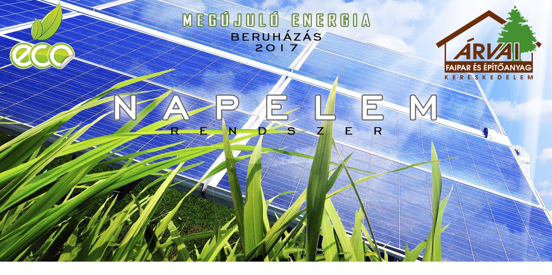 Megújuló energia beruházás