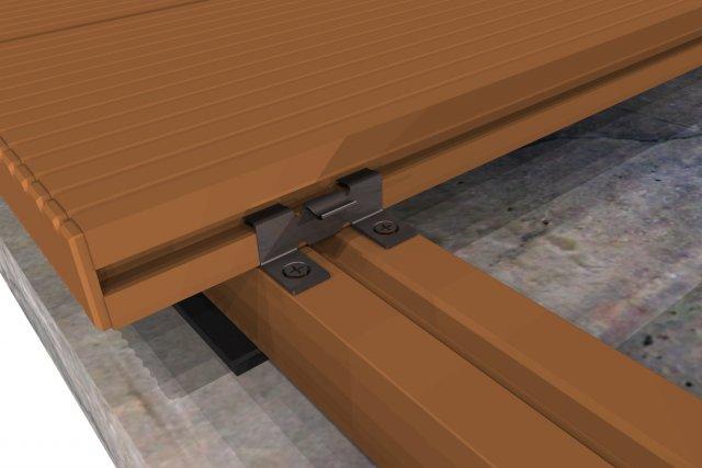 WPC teraszburkoló, egyéb burkolatok. WPC párnafára való szerelés beton alapnál.